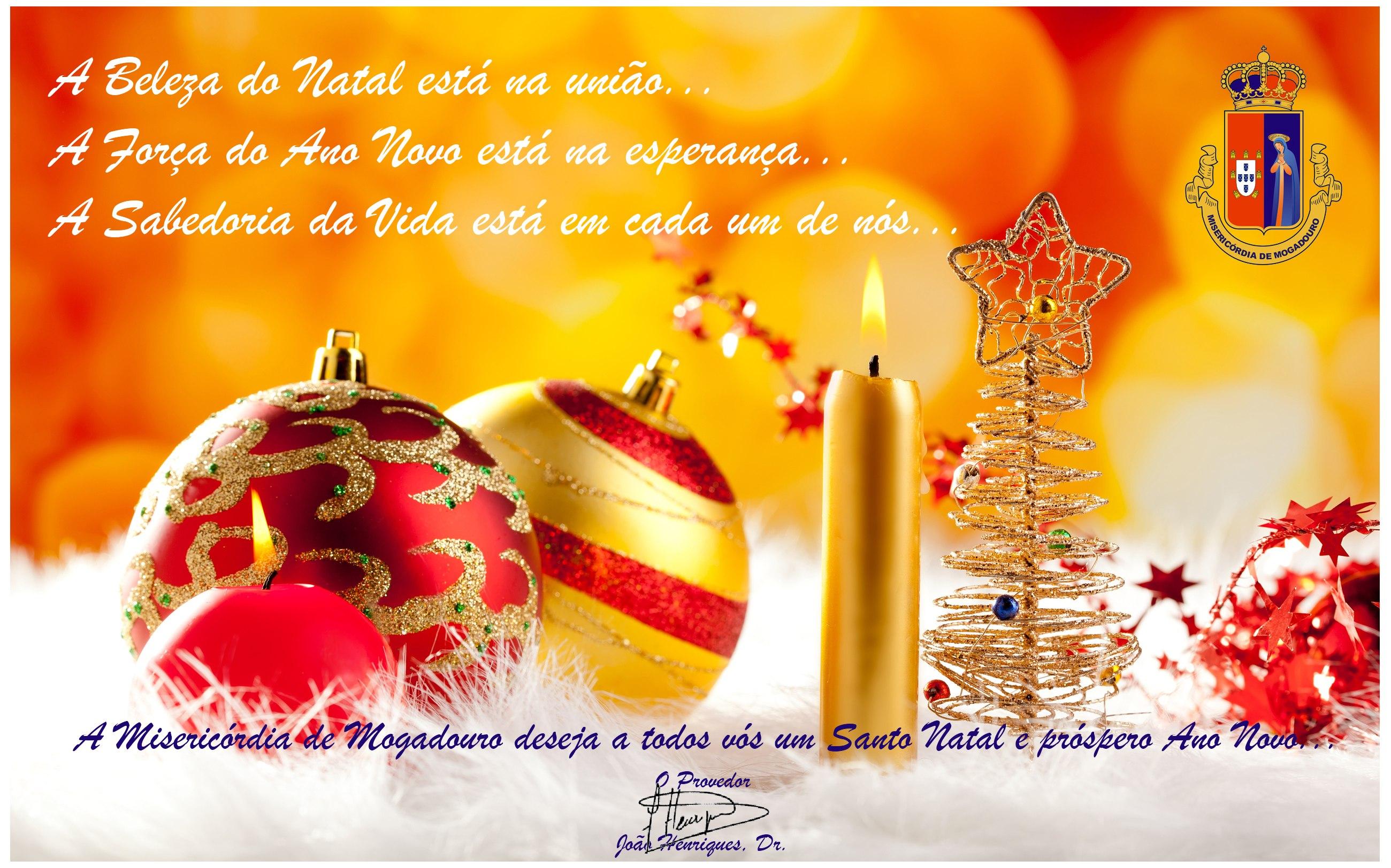 A Santa Casa da Misericórdia de Mogadouro deseja a todos vós um Santo Natal e próspero Ano Novo... Respeitosamente com cordiais saudações